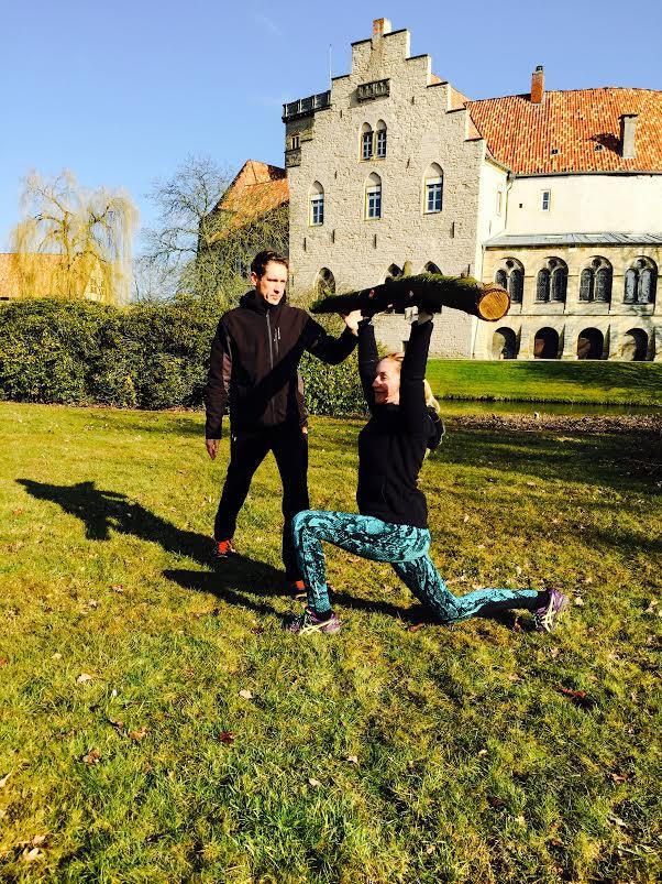 Elna-Margret zu Bentheim trainiert sich fit