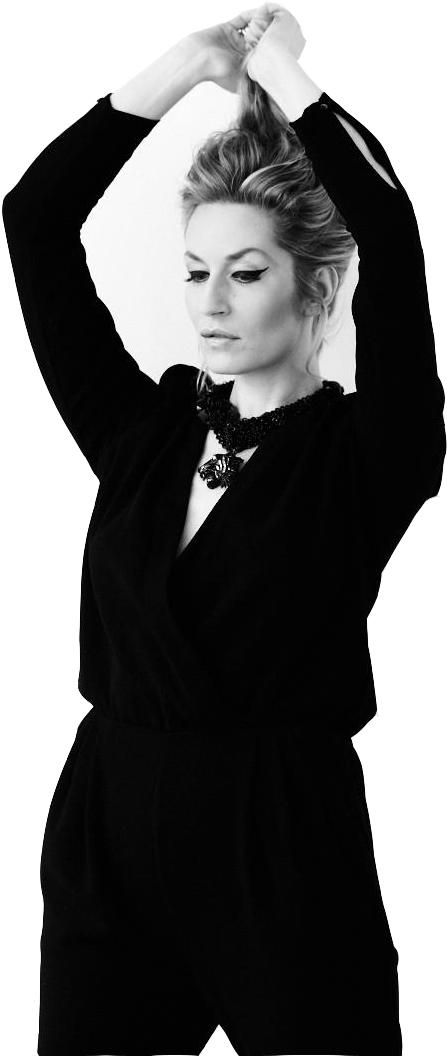 Elna-Margret zu Bentheim in schwarz-weiß