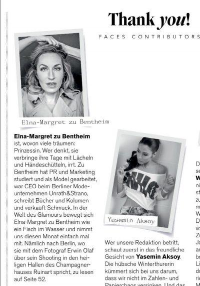 Artikel über Elna-Margret zu Bentheim