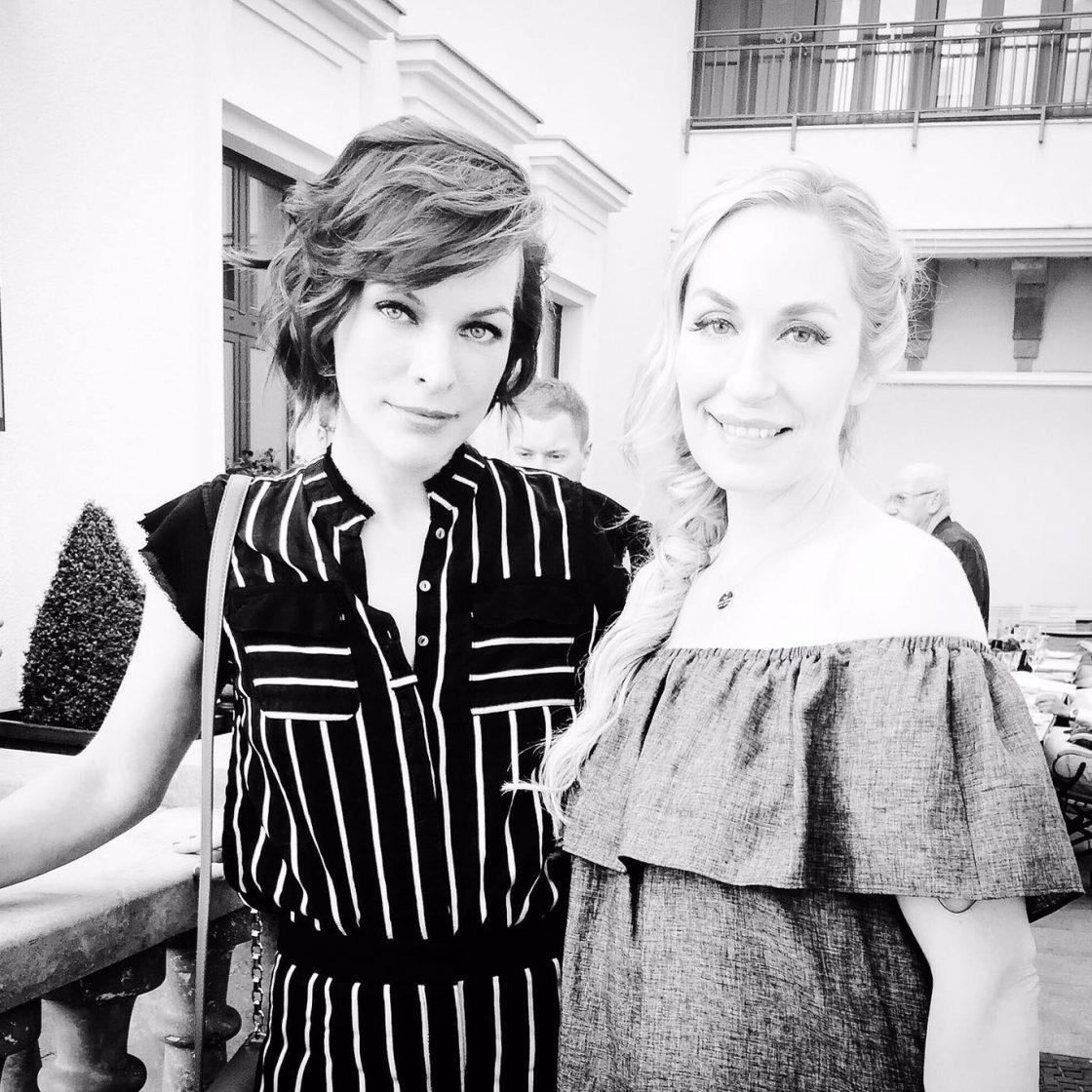 Elna Margret zu Bentheim mit Milla Jovovich