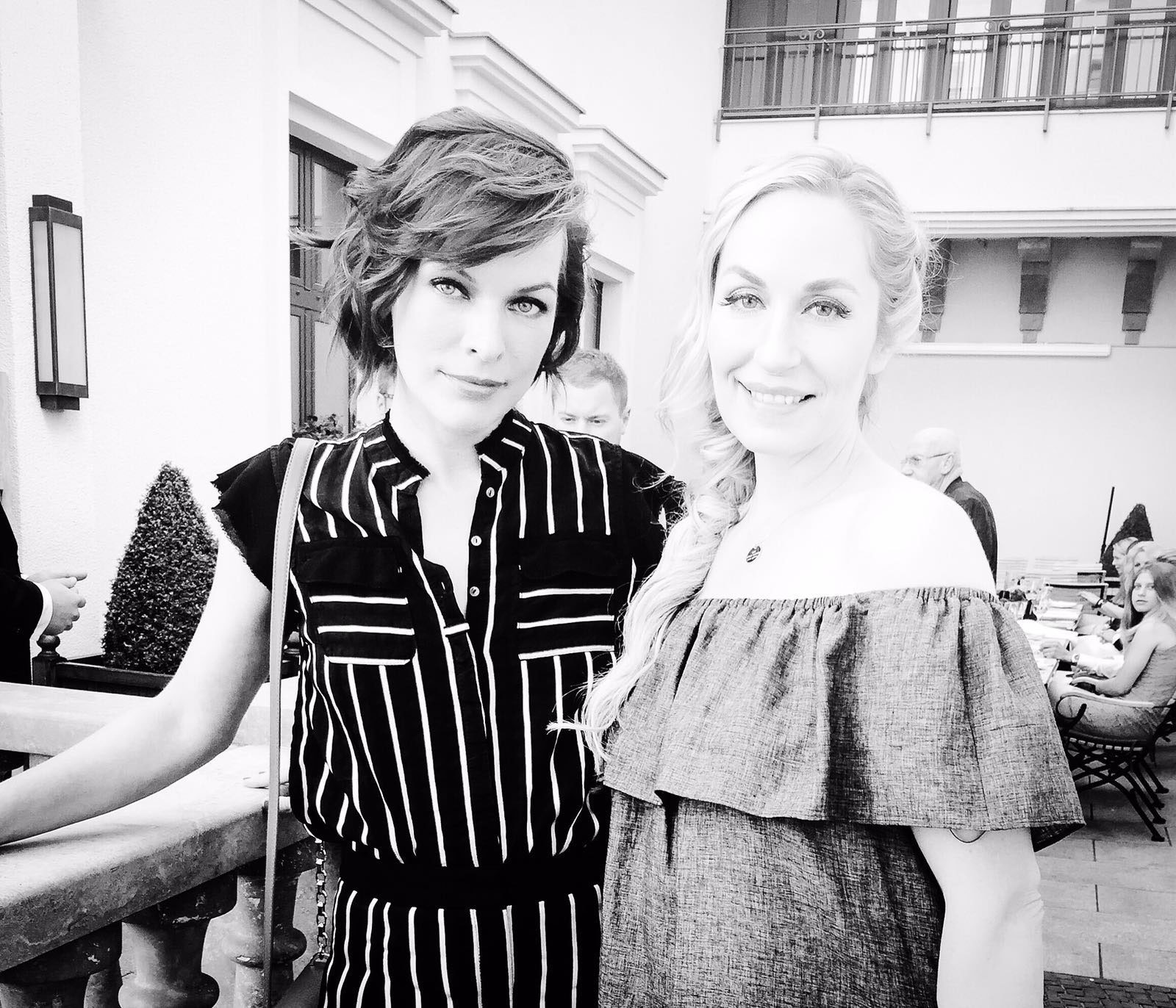 Elna und Milla Jovovich auf der Fashion Week