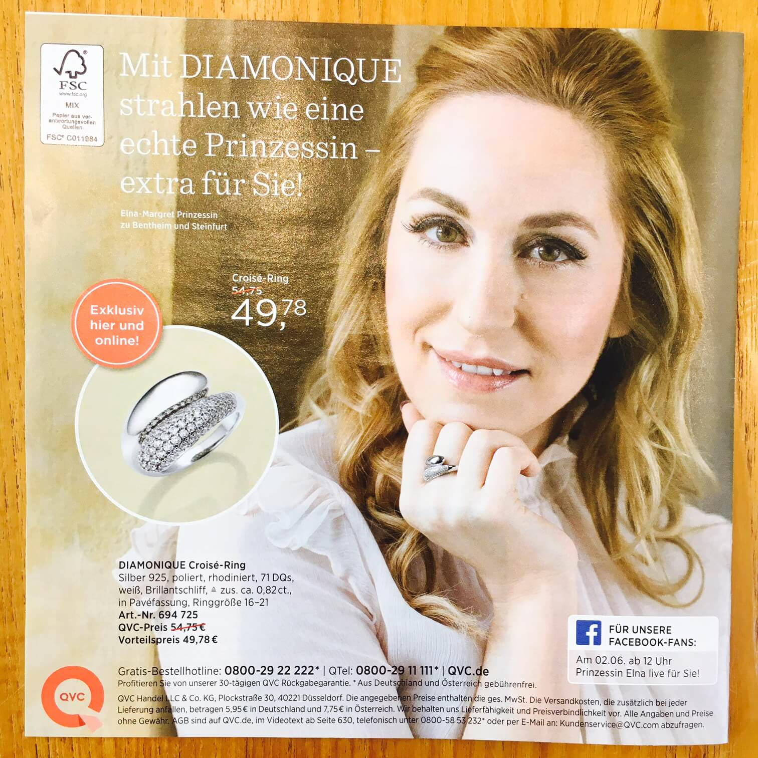 Elna Margret zu Bentheim QVC Ring